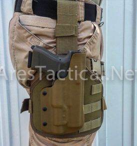 Thigh Holster in Coyote Kydex