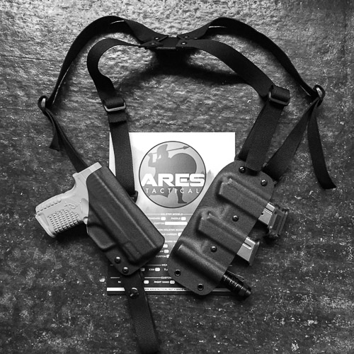 Holsters, Belts & Pouches Hunting Shoulder Holster For S&w M&p Shield With Mounted Laser Dbl Pouch Vertical Carry